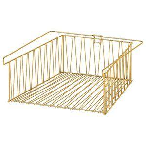 "Ikea Kallax Wire basket, brass color 15 3/4x13 """